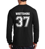 Whittemore 37 White Ink on Back Beacon hills lacrosse Long Sleeve T-shirt for Men