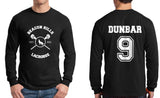 Dunbar 9 White Ink On BACK Beacon hills lacrosse On FRONT Long Sleeve T-shirt for Men