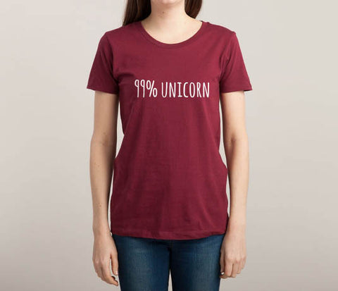 99% Unicorn T-shirt Women - Meh. Geek - 1
