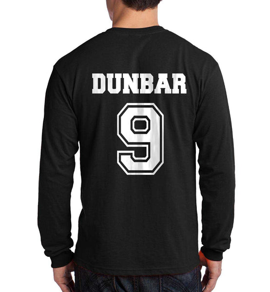 Dunbar 9 On BACK Beacon Hills Lacrosse Wolf Long Sleeve T-shirt for Men - Meh. Geek
