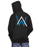 Alan Walker BLUE Ink Pocket On FRONT And Symbol AW On BACK Unisex Pullover Hoodie Adult