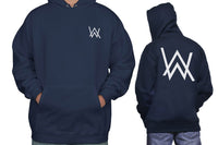Alan Walker WHITE Ink Pocket On FRONT And Symbol AW On BACK Unisex Pullover Hoodie Adult