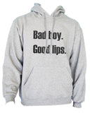 Bad Boy Good Lips Unisex Pullover Hoodie - Meh. Geek - 2