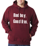 Bad Boy Good Lips Unisex Pullover Hoodie - Meh. Geek - 3