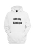 Bad Boy Good Lips Unisex Pullover Hoodie - Meh. Geek - 5