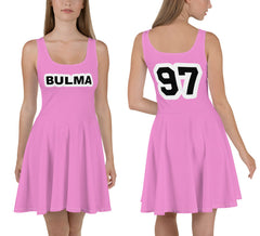 Bulma 97 Pink All Over Print Skater Dress