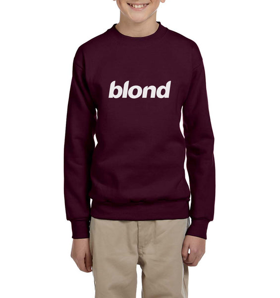 Blond Font Kid / Youth Crewneck Sweatshirt