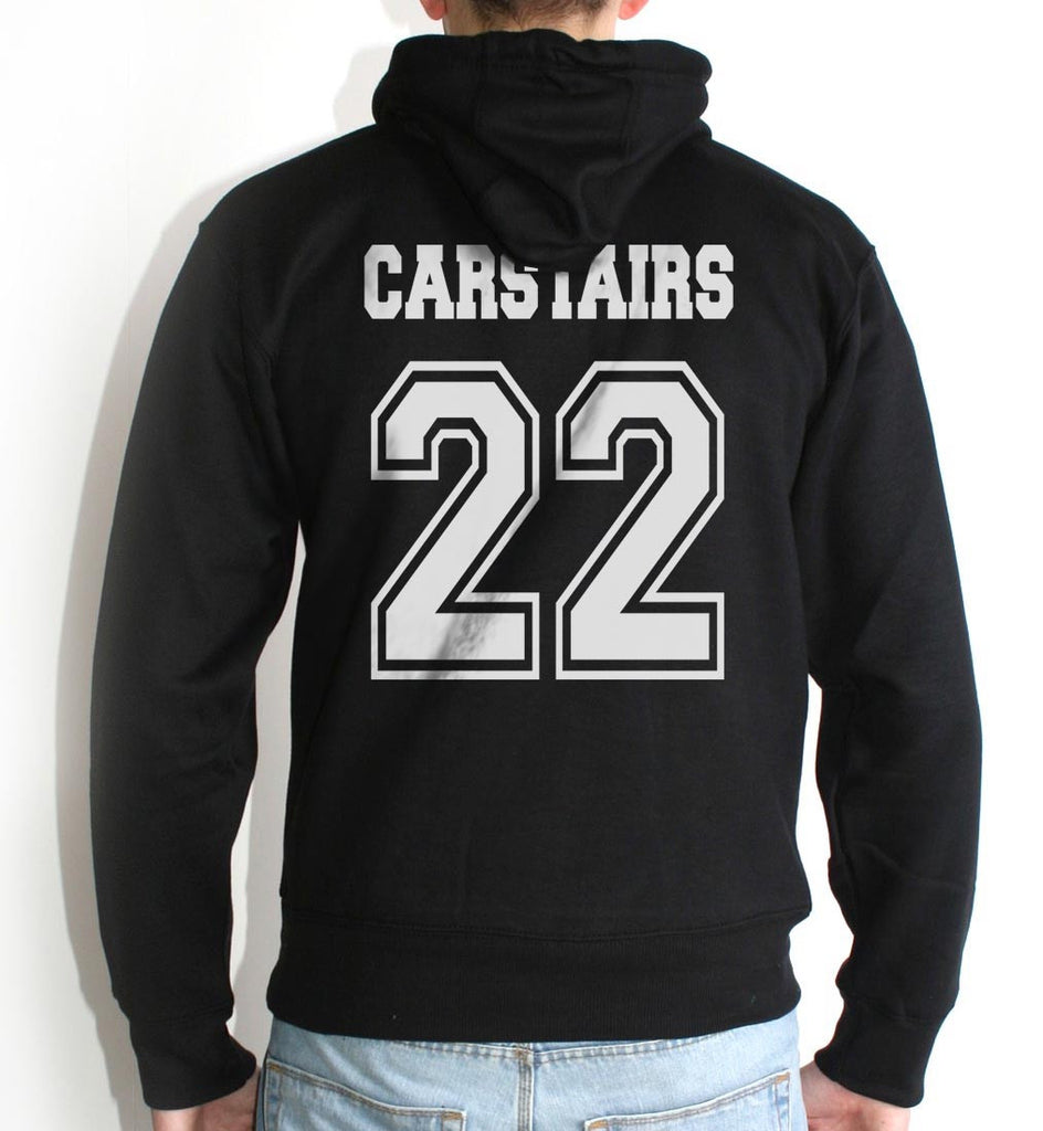 Carstairs 22 On BACK Idris University Unisex Pullover Hoodie - Meh. Geek - 2