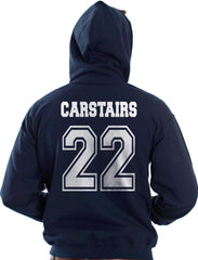Carstairs 22 On BACK Idris University Unisex Pullover Hoodie - Meh. Geek - 3