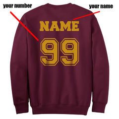 Customize - New Gryffindor SEEKER Quidditch Team Unisex Crewneck Sweatshirt Maroon  (Adult)