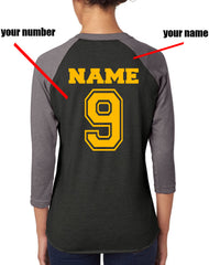 Customize - New Hufflepuff CHASER Quidditch Team Unisex Baseball Raglan 3/4 Sleeve NL6051