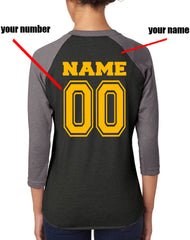 Customize - New Hufflepuff BEATER Quidditch Team Unisex Baseball Raglan 3/4 Sleeve NL6051