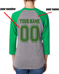 Customize - New Slytherin BEATER Quidditch Team Unisex Baseball Raglan 3/4 Sleeve NL6051