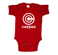 Capsule Corp 1 Infant Baby Rib Lap Shoulder Creeper Onesie Bodysuit
