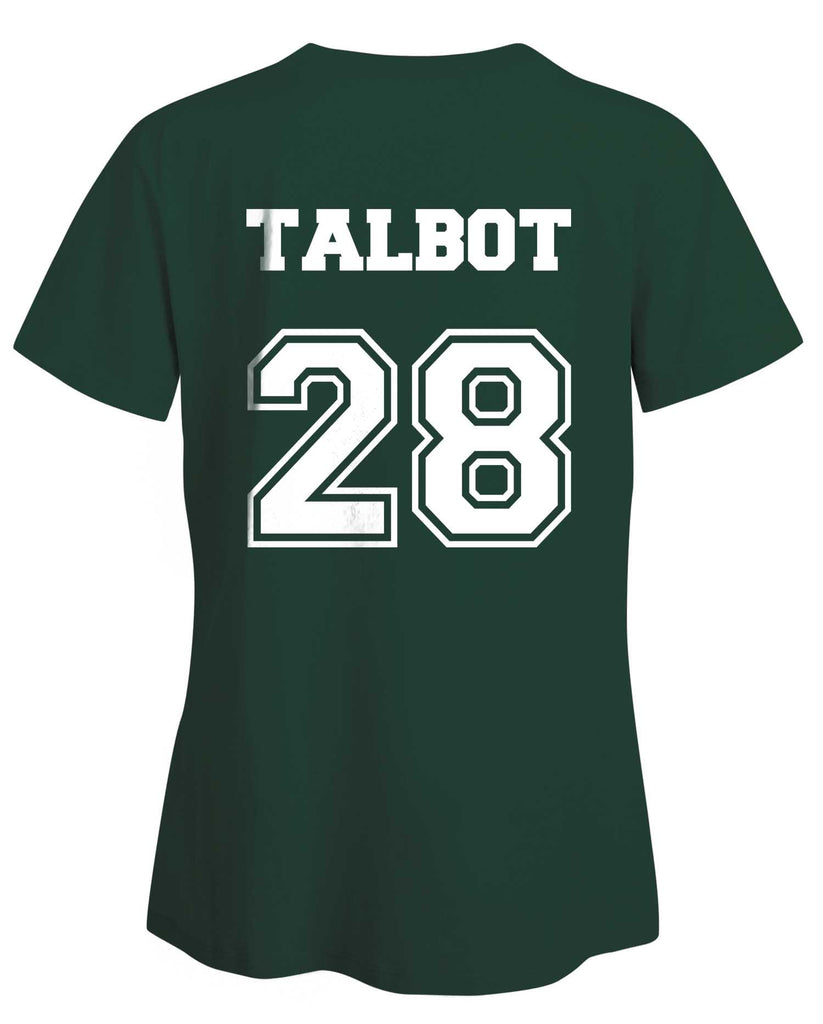 Talbot 28 on Back Devenford Prep Lacrosse Wolf Women T-shirt - Meh. Geek