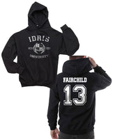 Fairchild 13 Idris University Unisex Pullover Hoodie Black - Meh. Geek - 1