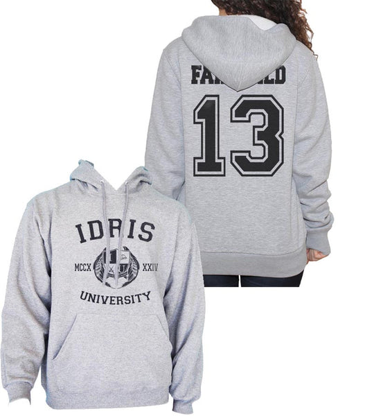 Fairchild 13 Idris University Unisex Pullover Hoodie Light Steel - Meh. Geek - 1