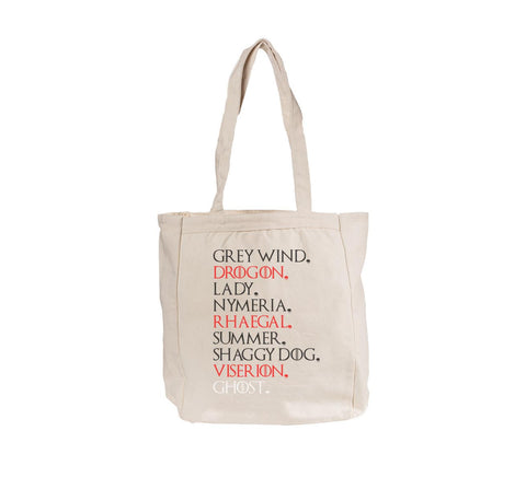GOT Pets Game of thrones Tote bag BE008 12 OZ