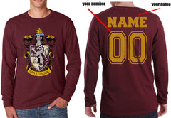 Customized - Gryffindor #1 Crest Long Sleeve T-shirt for Men
