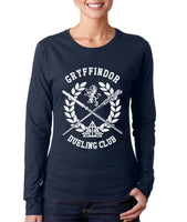Gryffindor Dueling Club Bw Ink Long sleeve T-shirt for Women PA