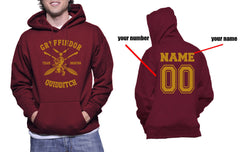 Customize - New Gryffindor BEATER Quidditch Team Unisex Pullover Hoodie Maroon
