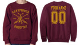 Customize - New Gryffindor BEATER Quidditch Team Unisex Crewneck Sweatshirt Maroon (Adult)