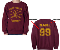 Customized Gryffindor BEATER Quidditch Sweater