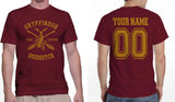 Customize - New Gryffindor CAPTAIN Quidditch Team Men T-shirt tee