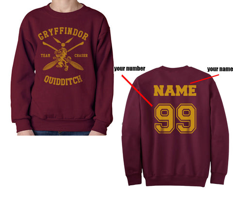 CUSTOMIZE Gryffindor CHASER Quidditch Sweater
