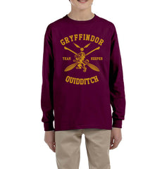Customize - New Gryffindor KEEPER Quidditch Team Kid / Youth Long Sleeves T-shirt tee