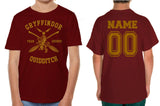 Customize - New Gryffindor SEEKER Quidditch Team Kid / Youth T-shirt tee