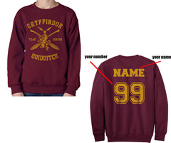 CUSTOMIZE Gryffindor SEEKER Quidditch Sweater