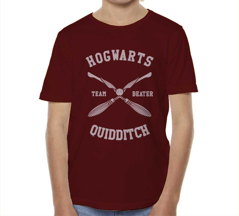 Hogwarts BEATER Quidditch Team White Kid / Youth T-shirt tee PA New