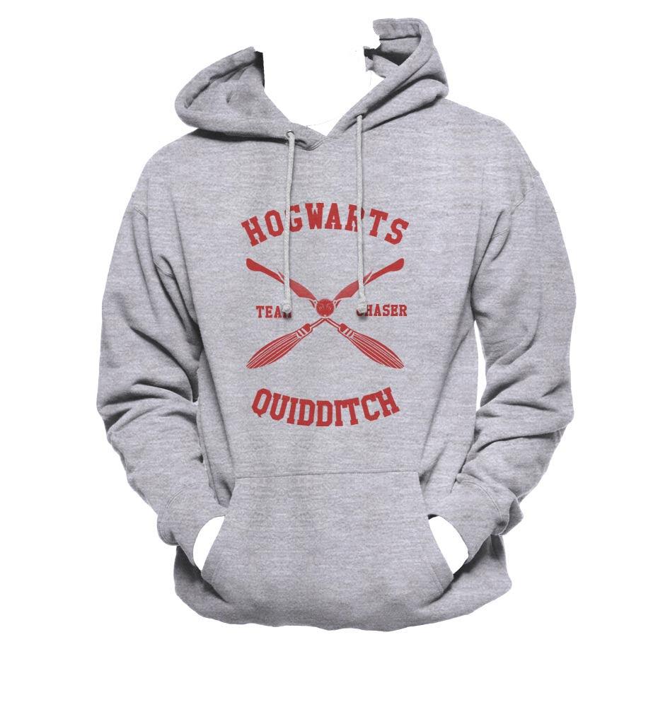 Hogwarts CHASER Quidditch Team Maroon ink Unisex Pullover Hoodie / Hooded Sweatshirt PA New