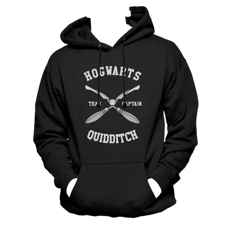 Hogwarts CAPTAIN Quidditch Team BW ink Unisex Pullover Hoodie / Hooded Sweatshirt PA New