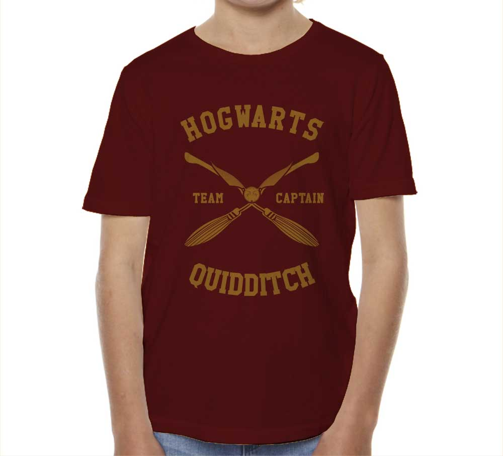 Hogwarts CAPTAIN Quidditch Team Yellow Kid / Youth T-shirt tee PA New