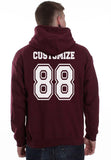 Idris University Custom Back Name and Number Unisex Pullover Hoodie MAROON - Meh. Geek - 3