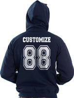 Idris University Custom Back Name and Number Unisex Pullover Hoodie NAVY - Meh. Geek - 2