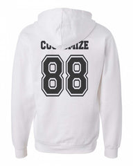 Idris University Custom Back Name and Number Unisex Pullover Hoodie WHITE - Meh. Geek - 2