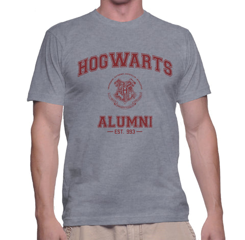 Hogwarts Alumni #3 Maroon ink Men T-shirt tee HA3