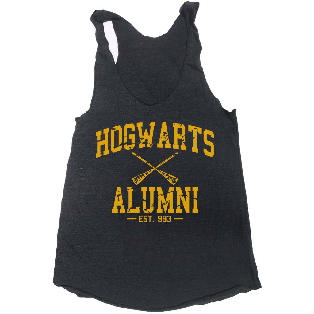 Hogwarts Alumni #1 Yellow ink Hufflepuff Triblend Racerback Women Tank Top HA1