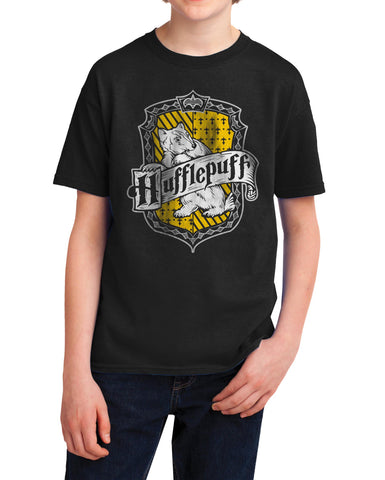 Hufflepuff #2 Crest Kid / Youth T-shirt tee PA Crest