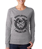 Hufflepuff Dueling Club Bw Ink Long sleeve T-shirt for Women PA
