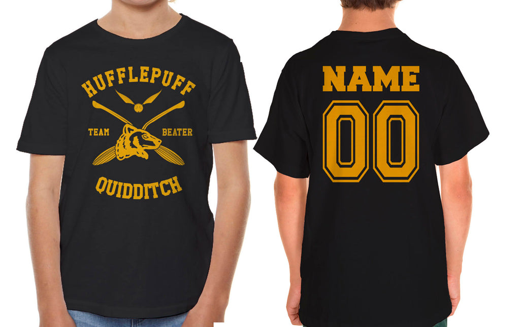 Customize - New Hufflepuff BEATER Quidditch Team Kid / Youth T-shirt tee