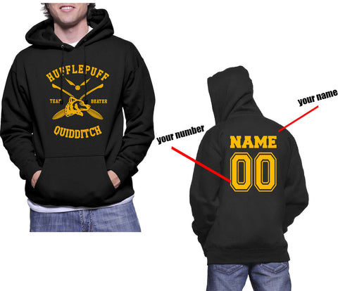 f6748fe0 Customize - New Hufflepuff BEATER Quidditch Team Unisex Pullover Hoodie  Black