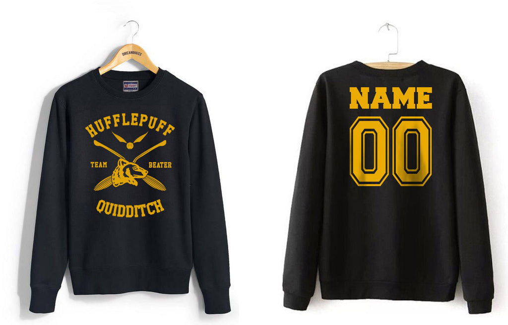 Customize - New Hufflepuff BEATER Quidditch Team Unisex Crewneck Sweatshirt (Adult)