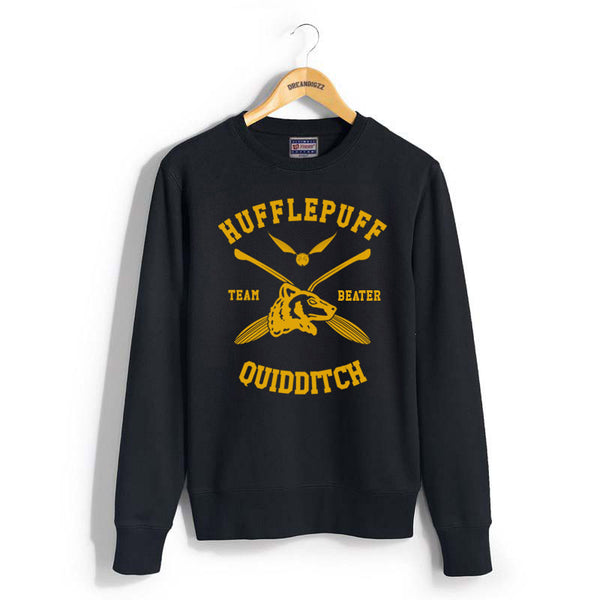 Hufflepuff BEATER Quidditch Team Unisex Crewneck Sweatshirt PA New Adult