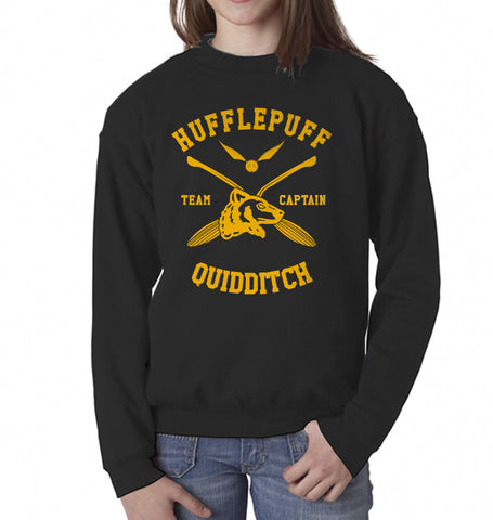 Hufflepuff CAPTAIN Quidditch Team Kid / Youth Crewneck Sweatshirt PA New