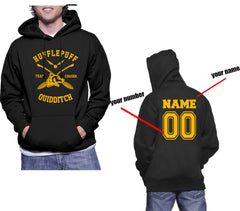Customize - New Hufflepuff CHASER Quidditch Team Unisex Pullover Hoodie Black