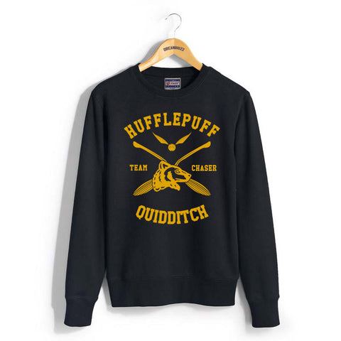 Hufflepuff CHASER Quidditch Team Unisex Crewneck Sweatshirt PA New Adult